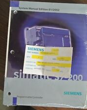 SIEMENS 6ES7 298-8FA22-8BH0 SIMATIC S7-200 SYSTEM MANUAL EDITION 01/2002 NEW SUR