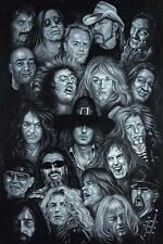 METAL HEROES - ART COLLAGE POSTER - 24x36 MUSIC BANDS 01482