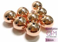 10 Pcs/Pkg 14mm Beads Rose Gold Filled 1/20 14K Good Price