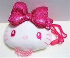 Hello Kitty pink Ribbon Neck Pouch plush USJ RARE Sanrio Japan