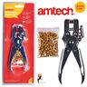 Heavy Duty Eyelet Pliers Chrome Steel Tarpaulin Fastener 100 Eyelet Amtech B2550
