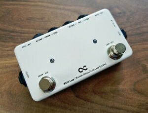 One Control White Loop dual effects FX loop pedal with 2 x 9v output - MINT