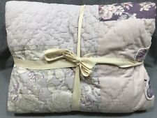 Pottery Barn Kids Dusty Lavender Yvette Patchwork Twin Quilt