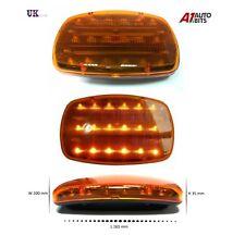 12v funciona con pilas ámbar 16 LED Faro luz intermitente aviso Magnético
