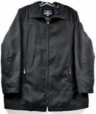 LONDON FOG Men's Black LIGHT Zippered Coat Jacket Size XL ms8