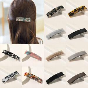 Women Shiny Geometric Hairpin Retro Square Grabbing Clip Bling Glitter Hair Clip