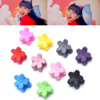 10Pcs Fashion Mini Candy Color Flower Hair Clips Claw Jaw Grips Hair AccessorYAN