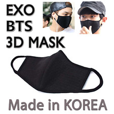 Made in Korea Unisex Kpop Idols 3D Black Cotton Face Mouth Mask BigBang EXO Mask