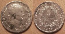 Napoléon I, 1 Franc argent 1808 BB Strasbourg, TB+ !!