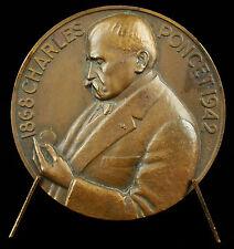 Médaille horlogerie de Cluses Charles Poncet sc Bazor 1948 clockmaking medal