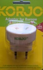 Korjo Travel Adapter for Europe Italy Switzerland fr Australia NZ * *2 Pin **