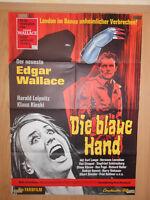 Edgar Wallace Die blaue Hand Klaus Kinski Filmplakat 60x80cm gefaltet
