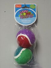 Hartz Game Set Match (2) Rubber Balls Dog Fetch Toy-TWO PACKS total of 4 balls!!