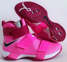 Nike Lebron James Soldier 10 X Kay Yow Sz 9 Vivid Pink Breast Cancer 844374-606