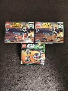 Star Wars Lego Set 75089 75000 Three Clone Wars Clone Trooper Battle Packs