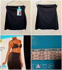 NWT SHAPERCISE XL 12-14 Solid Black Cool Smoothing Light Control Half Slip