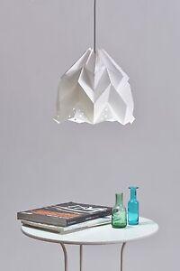 Origami paper lampshade pendant, modern, handmade item, white