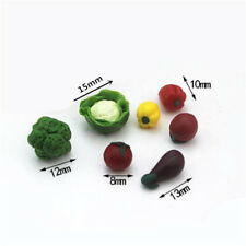 7pcs Dollhouse Miniatures Mini Fruits Vegetable Food Doll Kitchen Accessory