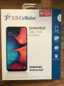 US CELLULAR SAMSUNG GALAXY A20 BRAND NEW 32GB Black - Prepaid Smartphone