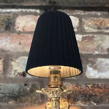 Black Pleat - Small Handmade Candle Clip Lampshade for Wall Lights/Chandelier