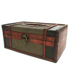 Vintage Style Wooden Tissue Box Holder / Cover - BNWT