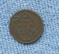 1758 1 Duit Dutch Republic Gelderland Netherlands Coin L-167