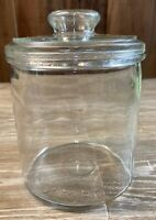 Vintage 5th District Tobacco Store Counter CIGAR Glass Jar Factory 256 NC W/ Lid