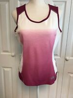 Women's The North Face Flight Series Vapor Wick Tank Top Size Medium Pink Ombré