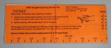 1995 Wisconsin Lake Winnebago Sturgeon Spearing License Tag...Free Shipping!