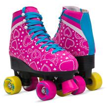 Roller Skates for Women Size 8 Purple Pink Flower 4-wheel Derby Quad Vintage