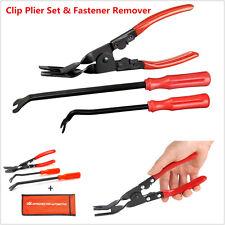 3Pcs Steel Car Door Trim Panel Clip Removal Pliers & Fastener Remover Repair Kit