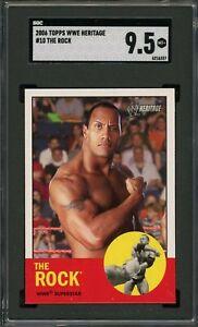 The Rock Dwayne Johnson 2006 Topps WWE Heritage Wrestling Card #10  SGC 9.5