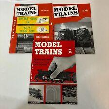 Model Train Railroad Magazine Lot 1956 59 60