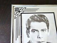 Reverse Painting Frame Glass Art Deco Vintage Mid Century Paul Muni  Photo