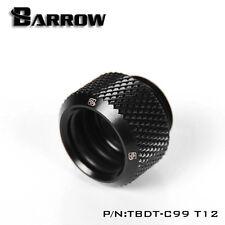 """Barrow G1/4"""" Matte Black Push Fitting for 12mm Rigid Tubes - 053"""