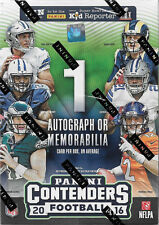2016 CONTENDERS Football Unopened Box with One AUTOGRAPHED or MEMORABILIA Card