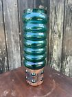 Vintage Retro Mcm Rare Scandinavian Green Raak Glass & Copper Vase Nanny Still