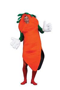 Carrot Adult Costume Mascot Food Vegetable Halloween