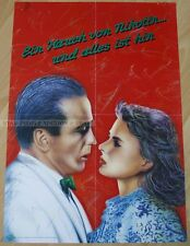 GERMAN POSTER - A TOUCH OF NICOTINE AND ALL IS GONE anti smoking art print