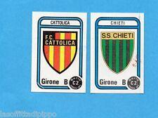 PANINI CALCIATORI 1980/81-Figurina n.549- CATTOLICA+CHIETI -SCUDETTO-Rec