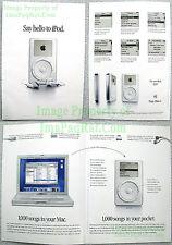 2001 4-PG 1st Generation Apple iPod Brochure Insert Advertisement - SAY HELLO