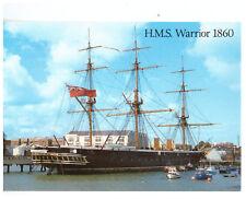 HMS Warrior Rare British Naval Postcard