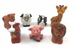 Fisher Price Little People Farm Zoo Animal Lot Of 7 Figures