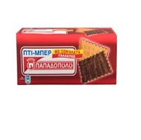 Petit Beurre (Pti-ber) - Papadopoulou Greek Biscuits with Milk Chocolate 3 X 200
