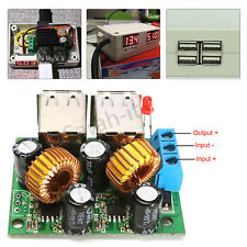 4 Port USB DC 12V To 5V 5A Step Down Power Supply Module Mobile Tablets Charger