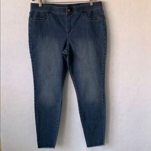 Blue Jean Leggings, HUE, Size 16, XL