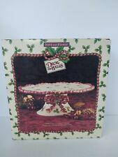 Fitz & Floyd Deck The Halls vintage tiered Christmas cake cookie Plate