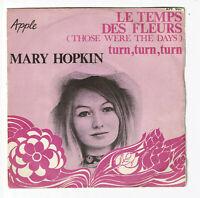 "Mary HOPKIN Vinyle 45T 7"" LE TEMPS DES FLEURS - TURN TURN - APPLE Beatles 503"