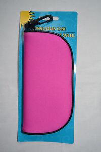 BOGO Soft Sunglass Case Zipper Clip Neoprene Glasses Eye ware SEE DESCRIPTION