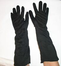 WOMAN GENUINE LONG VINTAGE GLOVES WASHABLE CLOTH SIZE 6.5